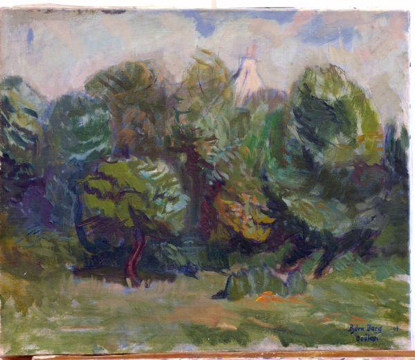 Doelan, Frankrike 1947, Oljemålning.