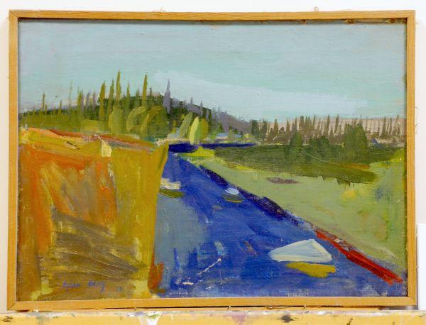 1950 Härjedalen, ev. Ljusnan i närheten av Ljusnedal.