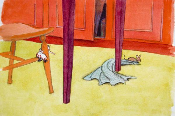 Teskedsgumman och musen som snor runt och gör rent
