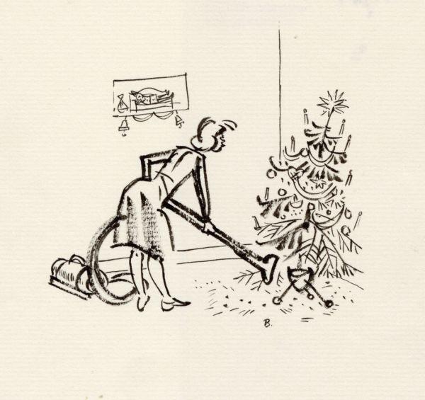 1962 julen är slut och barren sugs upp i dammsugare