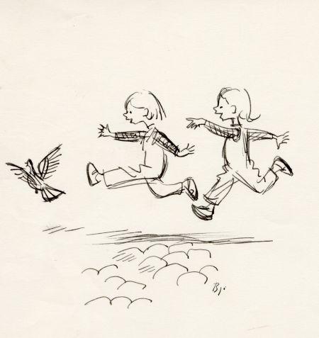 1962 DN duvor och barn