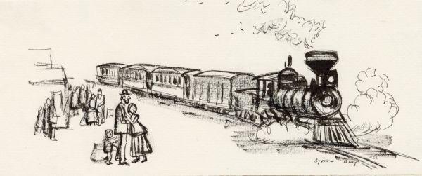 1962 DN tåg i Amerika mot väst