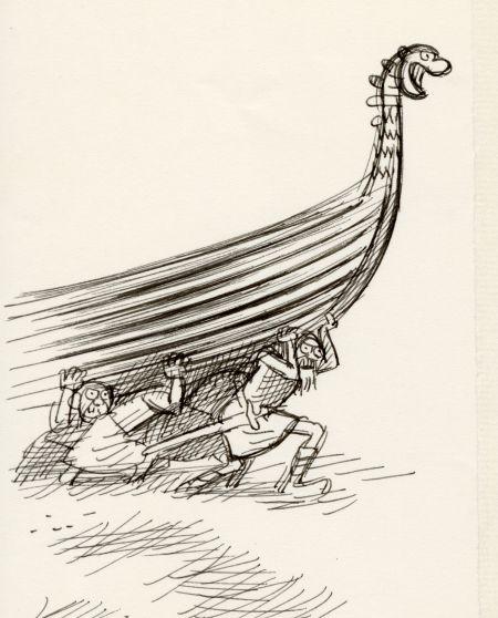 1962 DN vikingar bär båt