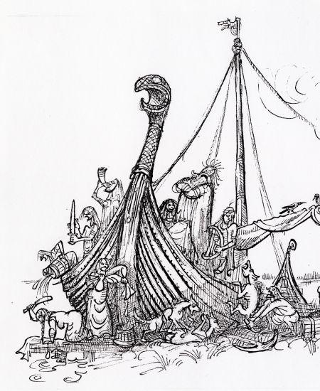 1980tal drakskepp Röde Orm