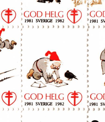 1.3 jultomte julfrimärken 1982