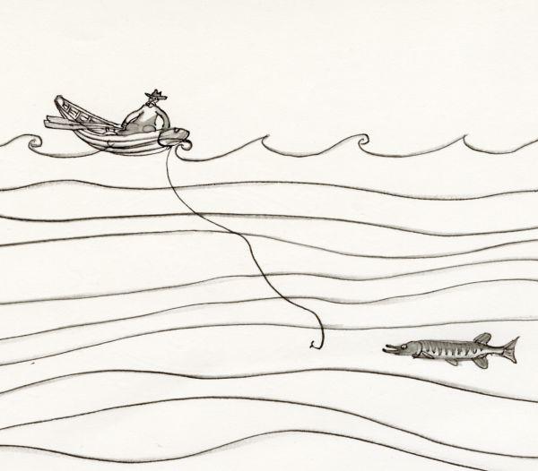 Kosta 1968 Fiskare och gädda