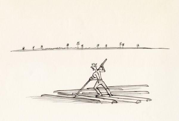 Kosta 1968 flottare ute i älven