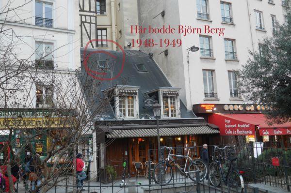 1948-1949 bodde Björn Berg här på Rue de la Bûcherie