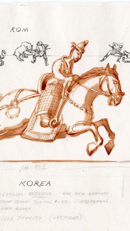 360 eKr Korea häst stigbyglar