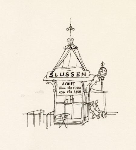 1964 Slussen djurgårdsfärjan biljetter