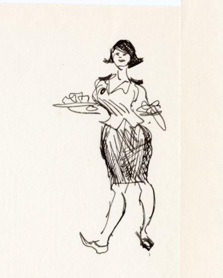 1965 W6 restaurang i Klara