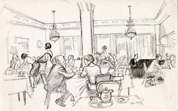 1965 W6 redaktören Bo Grandien på restaurangen