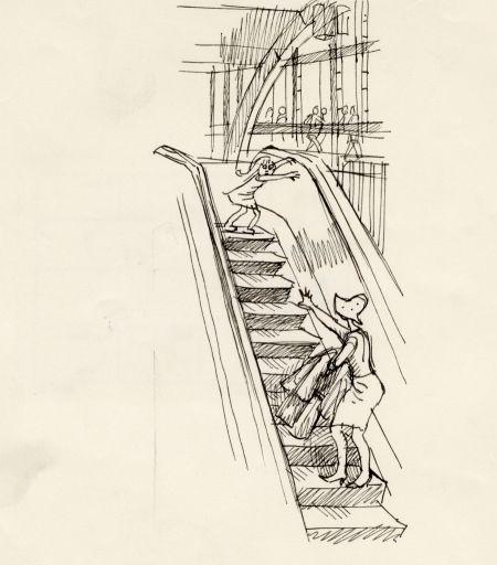 1964 Centralstationen, flickan som tappade greppet om mammans hand. Dramatik i Rulltrappan