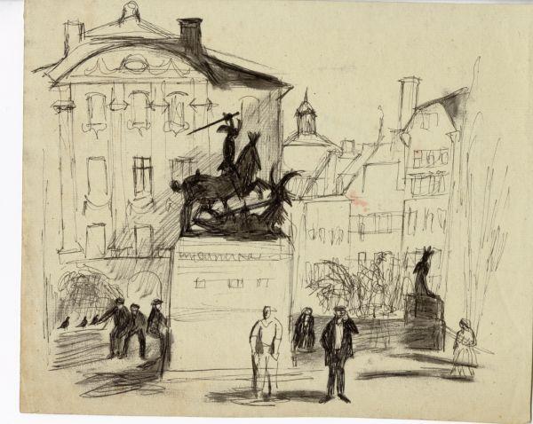 1943 St. Göran och Draken Köpmanstorget, Gamla Stan 1943 mapp 27.jpeg