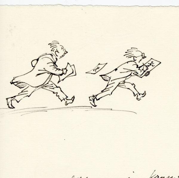 Alf  och Björn 1976, Deadline närmar sig.