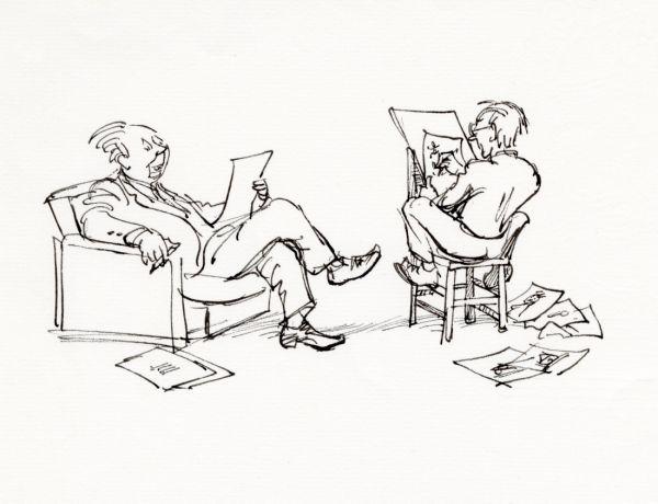 Alf  och Björn 1976. Olika arbetsställningar.