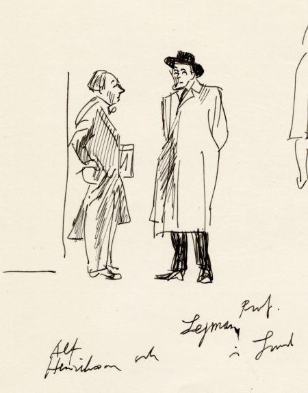 1958 Alf H och Professor Lejman i Lund 1