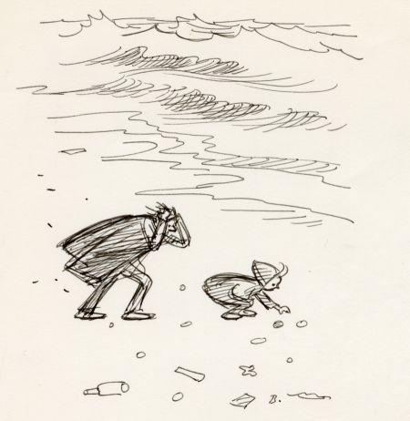 1962 DN stenar vid havet