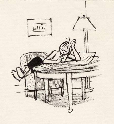 1962 DN tidningsläsare