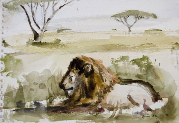 Lejon i Afrika 1987