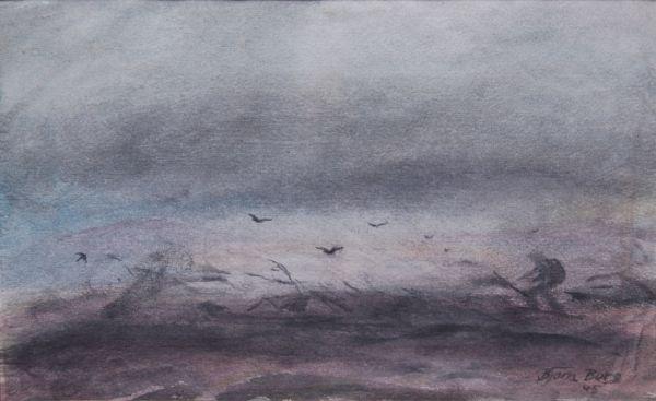 Storm mellan Njomeltjärve och Helags