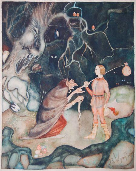 I mörka skogen med trollet