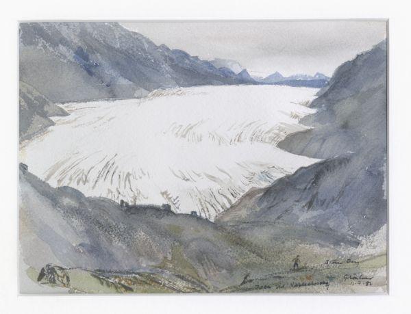 Isen vid Narssarssuag, Grönland, 1982
